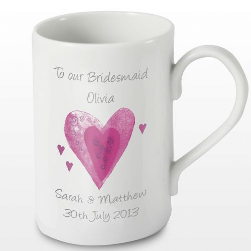 Personalised Hearts Mug